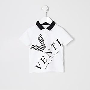 Mini - Wit 'Venti' poloshirt voor jongens