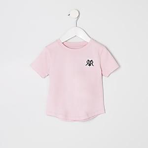 T-shirt rose à logo RI mini garçon
