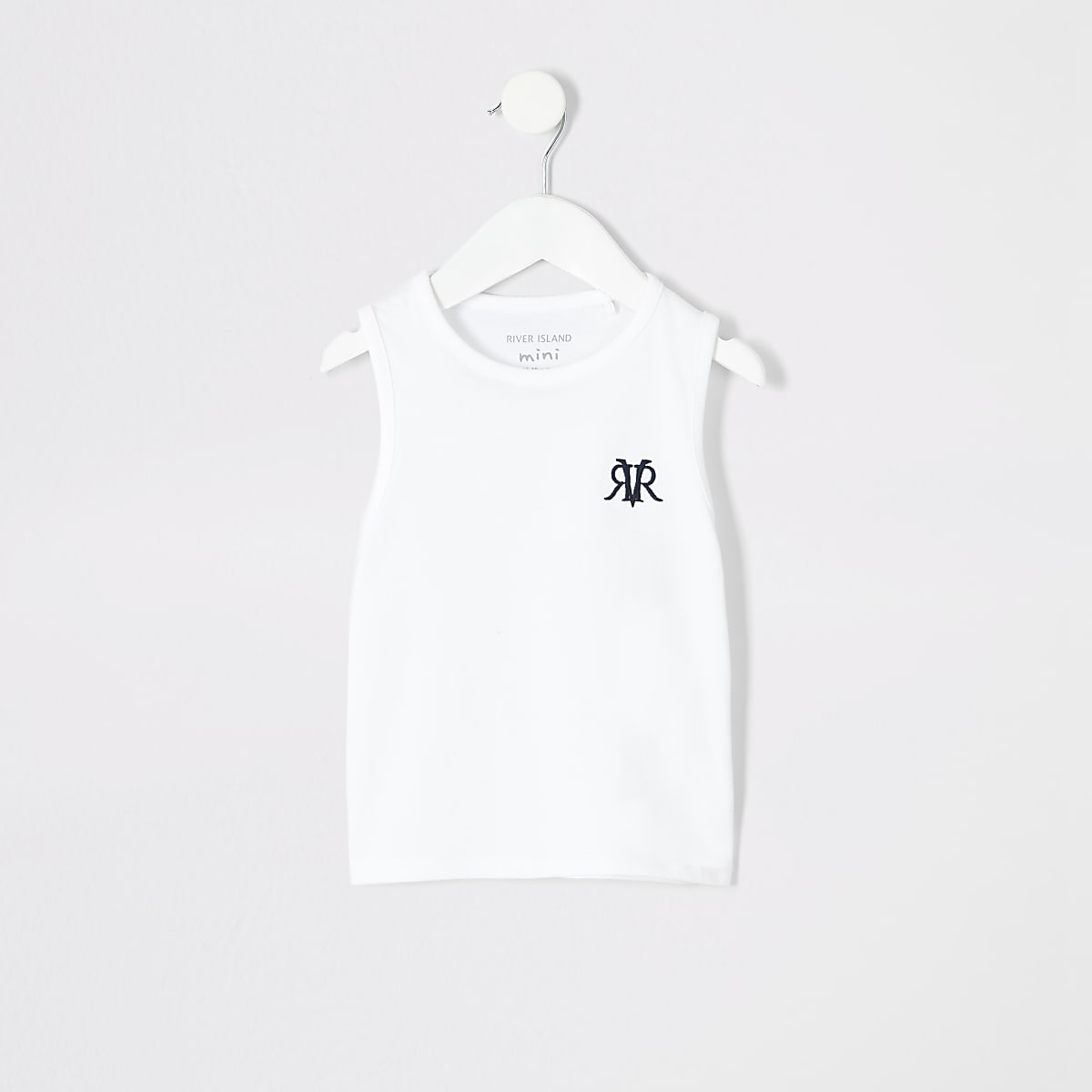 Mini boys white RI vest