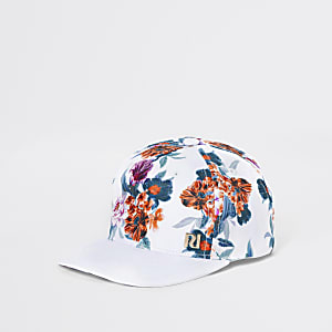 Boys white tropical cap