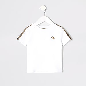 Mini boys white wasp embroidered T-shirt