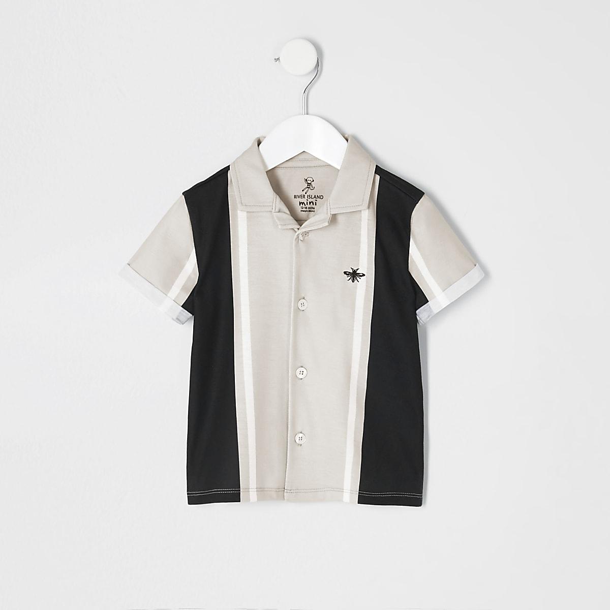 Mini boys stone stripe shirt