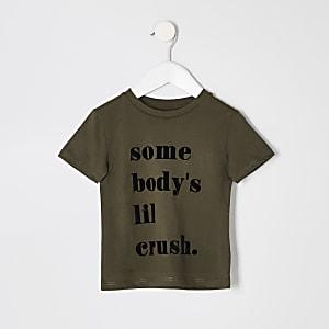 T-shirt «Somebodys lil crush» kaki mini garçon