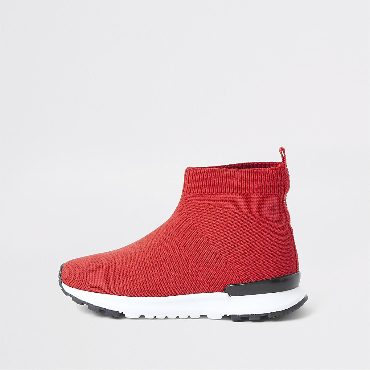 Mini boys red sock runner sneakers