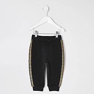 Pantalon de jogging noir à bandes mini garçon