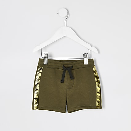 Mini boys khaki tape shorts