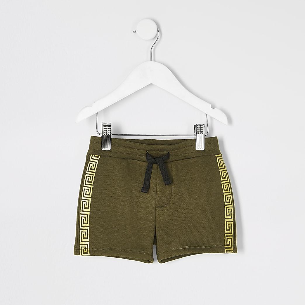 Mini boys khaki tape shorts