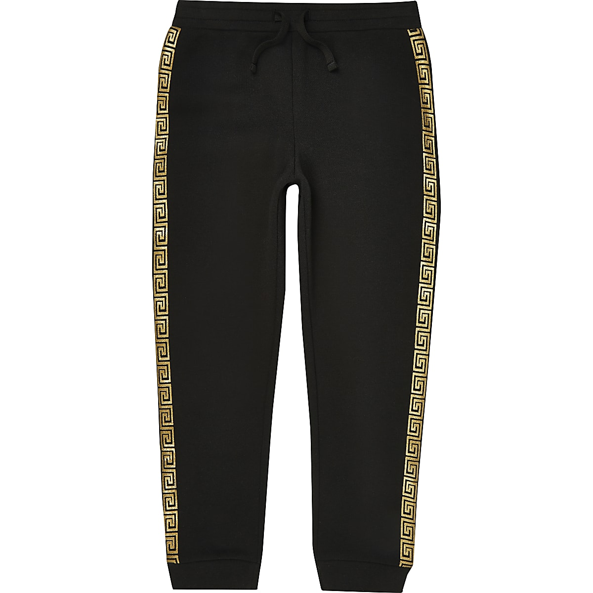 Boys black tape joggers