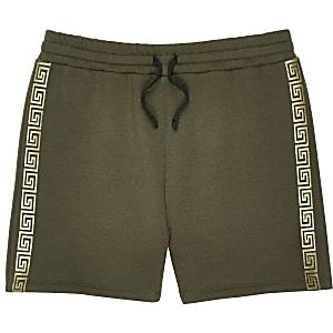 Short kaki à bandes latérales pour garçon
