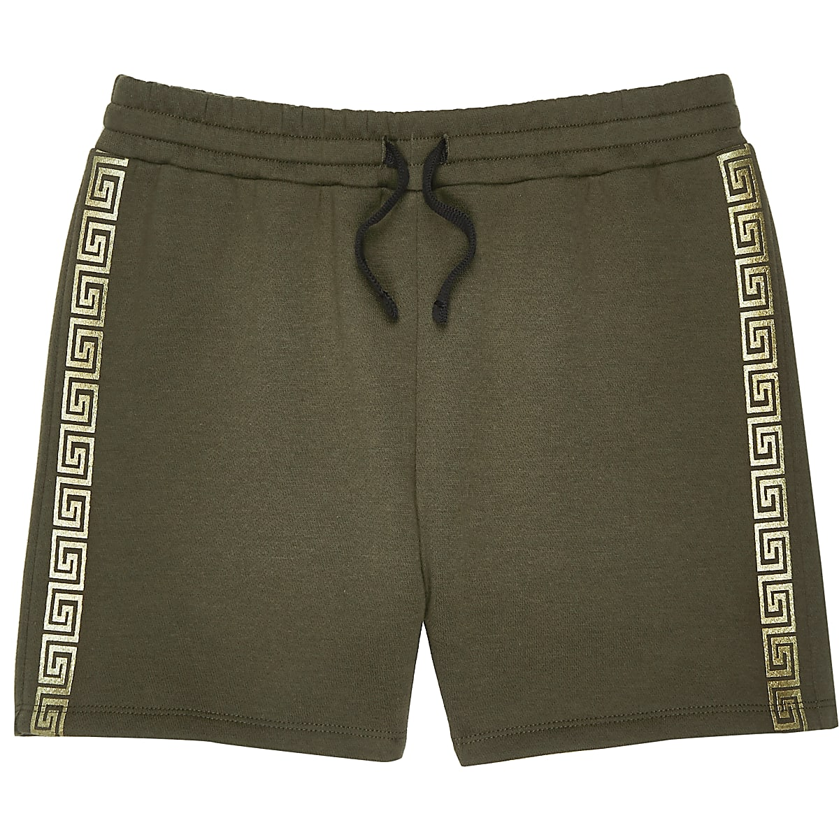 Boys khaki tape shorts