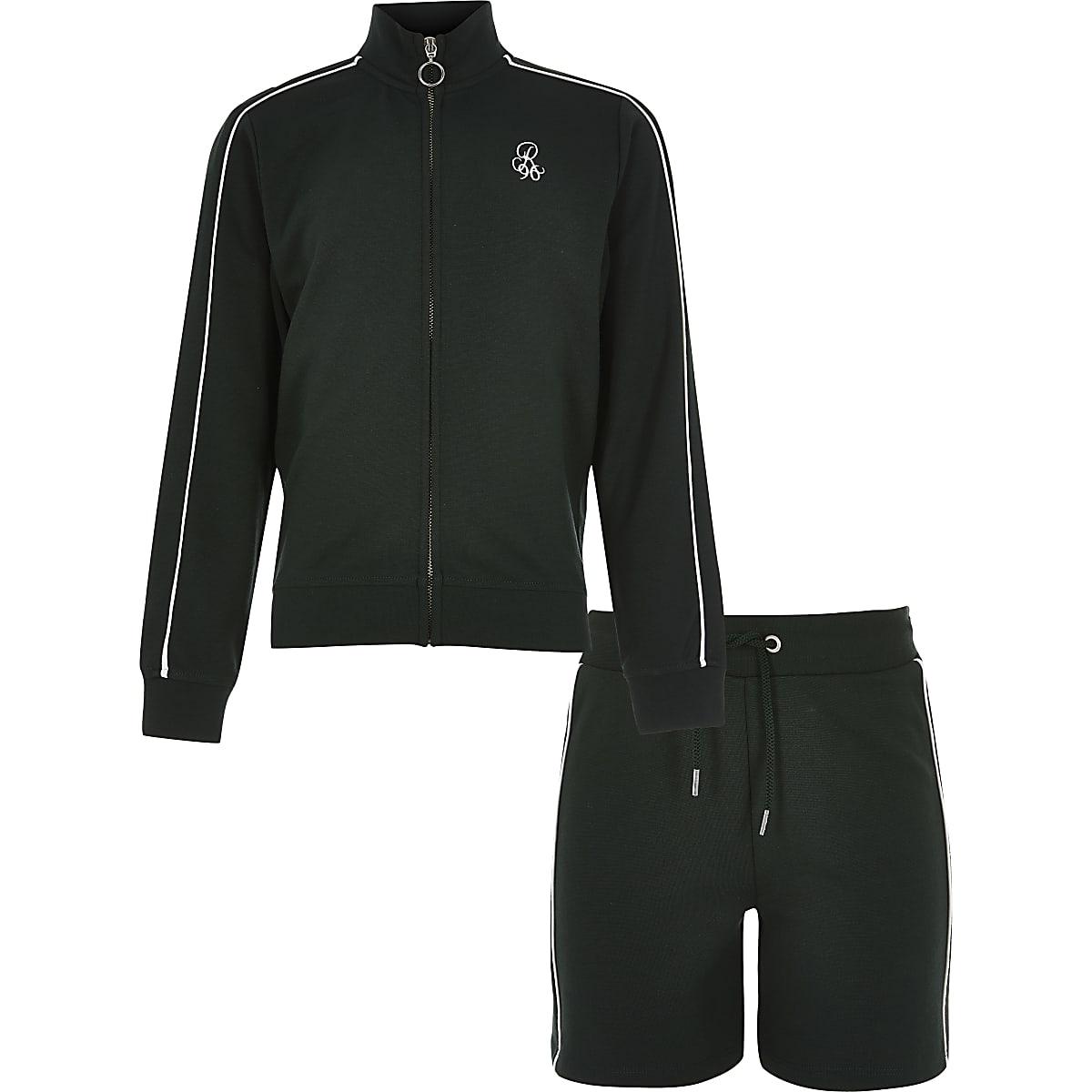 Boys khaki track top outfit