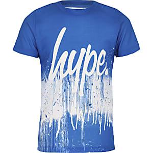 Hype – T-shirt bleu motif éclaboussures de peinture pour garçon