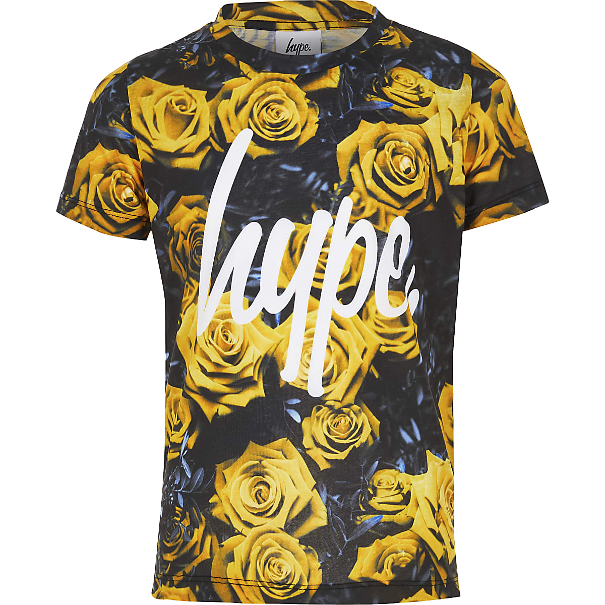 Boys yellow Hype floral T-shirt