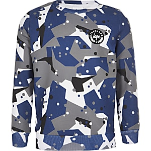 Hype – Graues Sweatshirt mit Camouflage-Muster