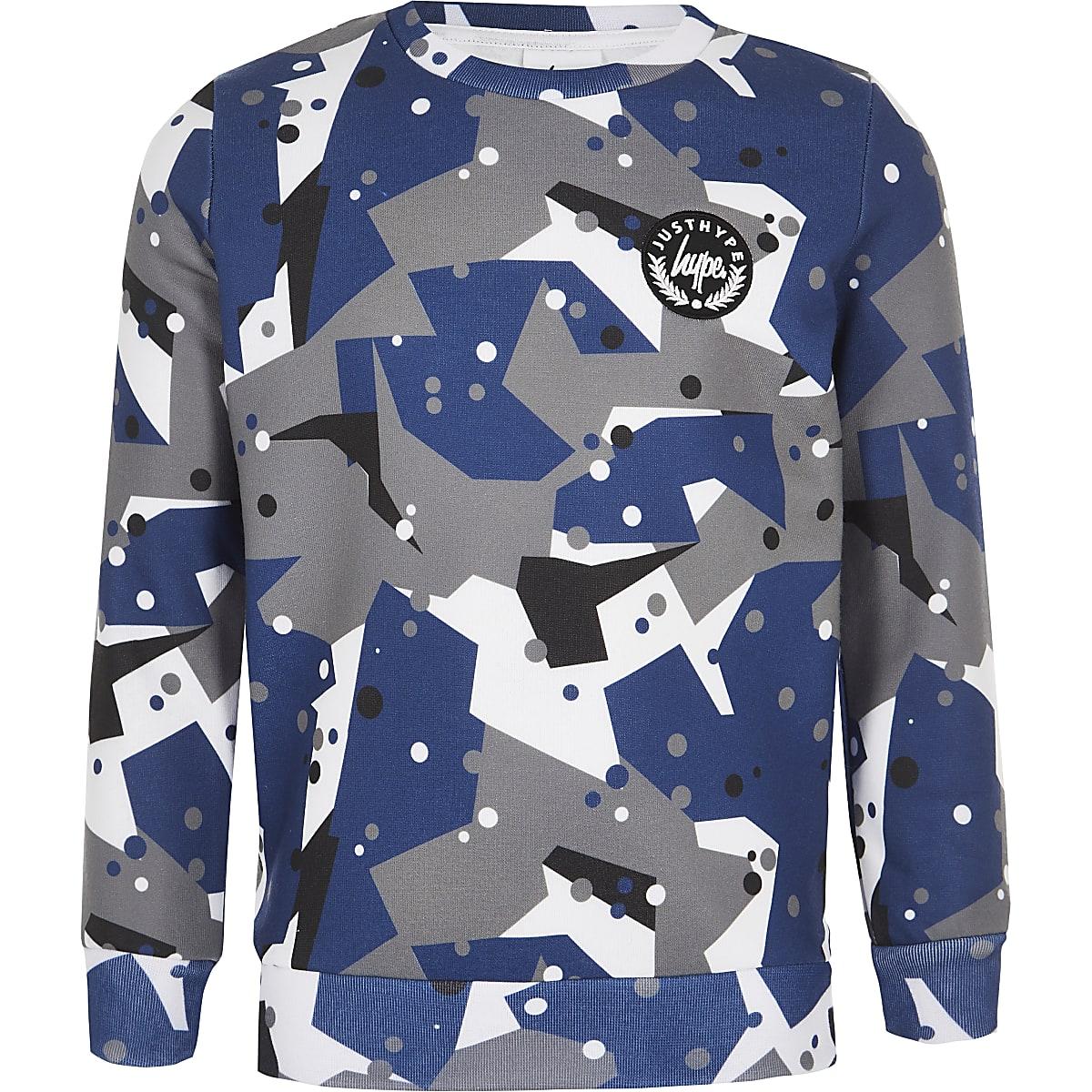 Hype - Grijs sweatshirt met camouflageprint voor jongens
