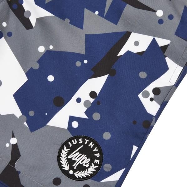 River Island - – graue badeshorts mit camouflage-muster - 3
