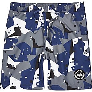 Hype - Grijze zwemshort met camouflageprint voor jongens