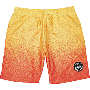 Boys yellow Hype faded swim trunks