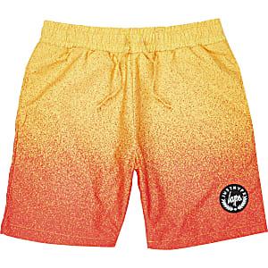 Hype - Gele zwemshort met vervaagde print voor jongens