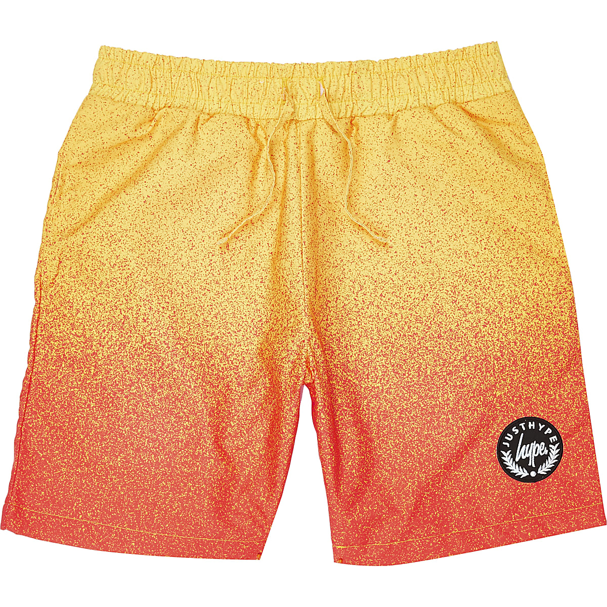 Boys yellow Hype faded swim shorts