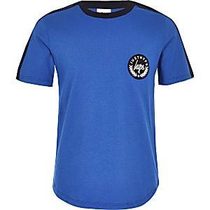 Hype – T-shirt bleu à bandes latérales pour garçon