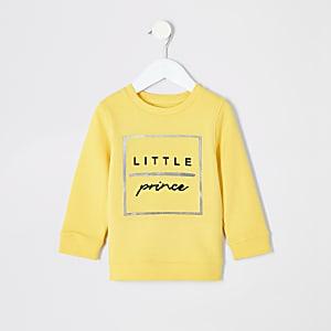 Mini - Geel sweatshirt met 'Little prince'-print voor jongens