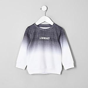 Mini - Grijs sweatshirt met vervagende ruit voor jongens