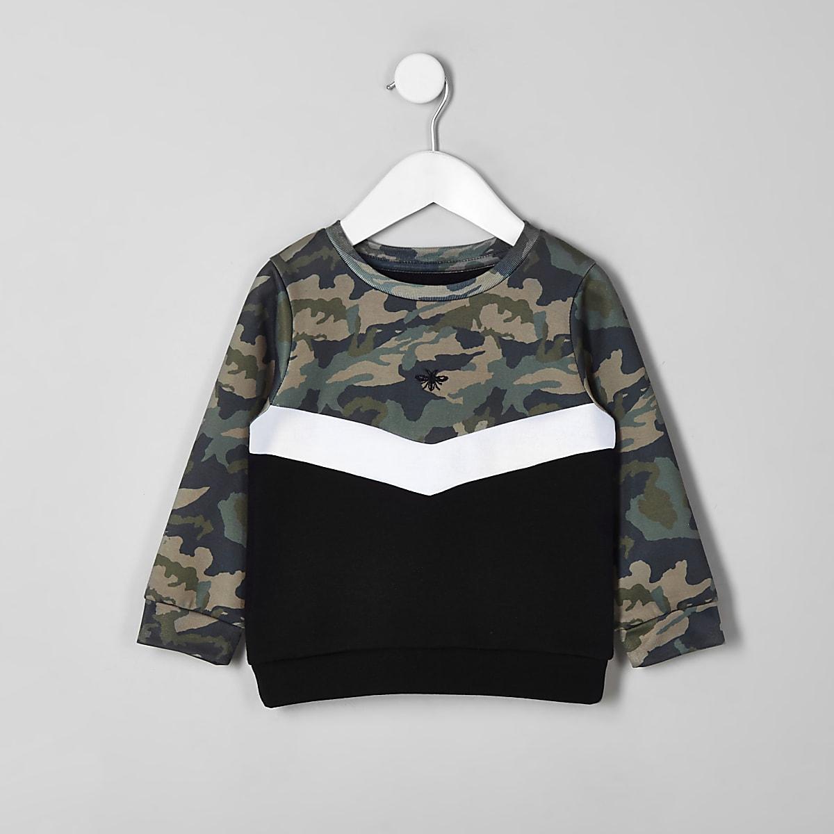 Mini boys khaki chevron sweatshirt
