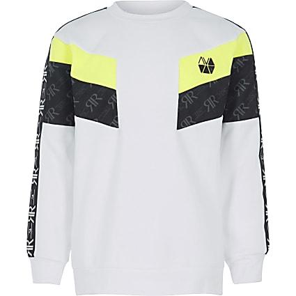 Boys RI Active white block sweatshirt