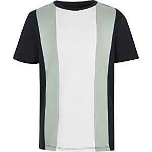 Marineblaues T-Shirt in Blockfarben