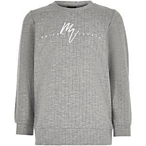 Grijs sweatshirt met 'Maison Riviera'-print voor jongens