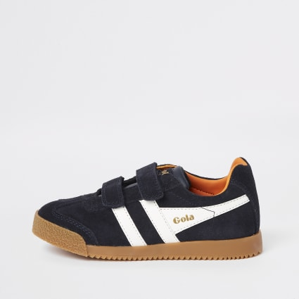 Boys Gola navy velcro trainers