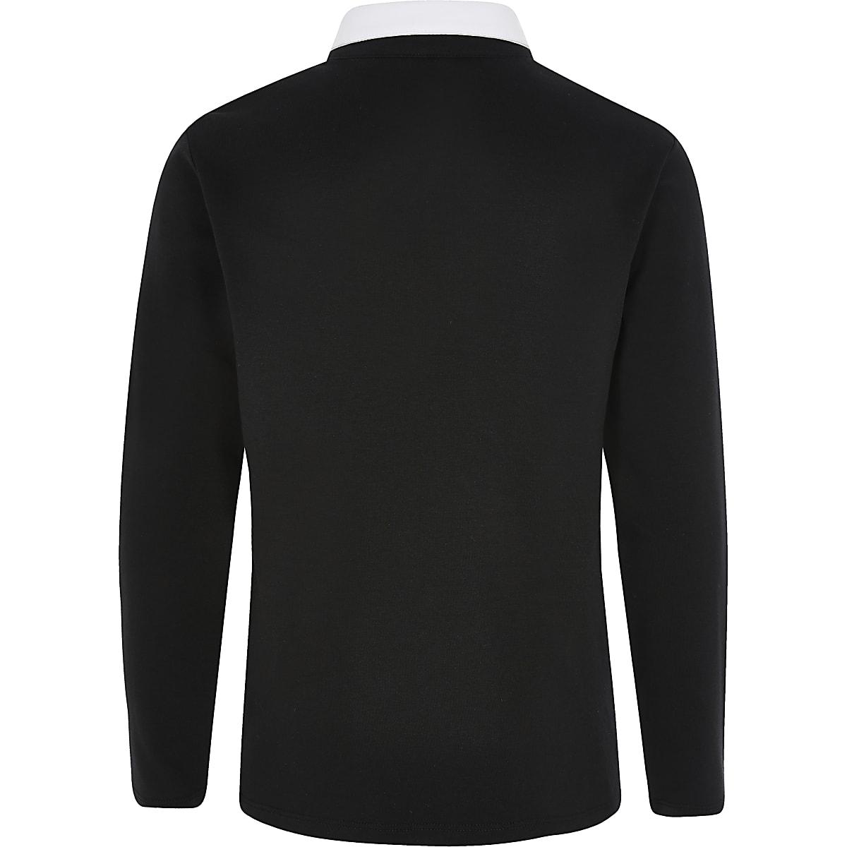 fef97699 Boys black R96 rugby shirt - Polo Shirts - boys