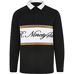 Boys black R96 rugby shirt