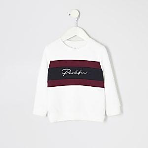 Mini - Wit sweatshirt met blok- en prolific-print voor jongens
