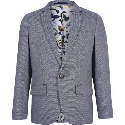 Boys blue pin dot blazer