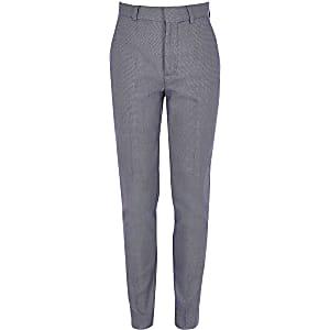 Pantalon bleu à pois pour garçon