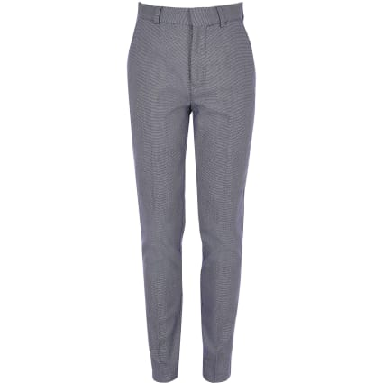 Boys blue pin dot print trousers