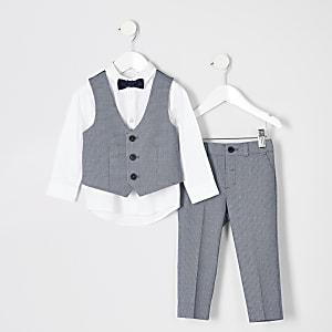 Mini - Outfit met blauw kostuum voor jongens