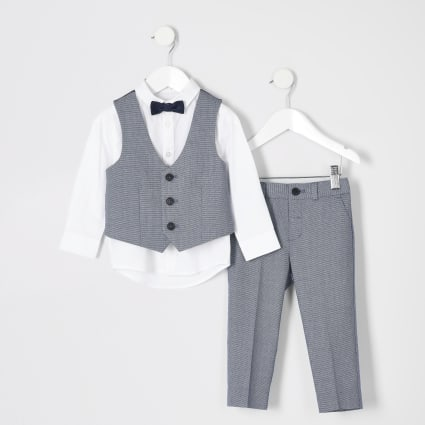 Mini boys blue suit outfit