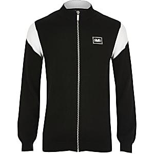 Zwart vest met ritssluiting en vlakken voor jongens
