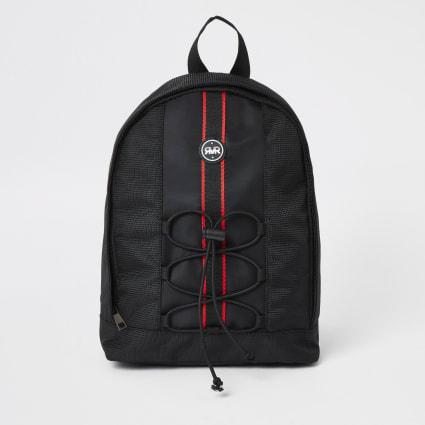 Boys black RVR tape large backpack