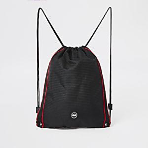 Boys black RVR drawstring bag