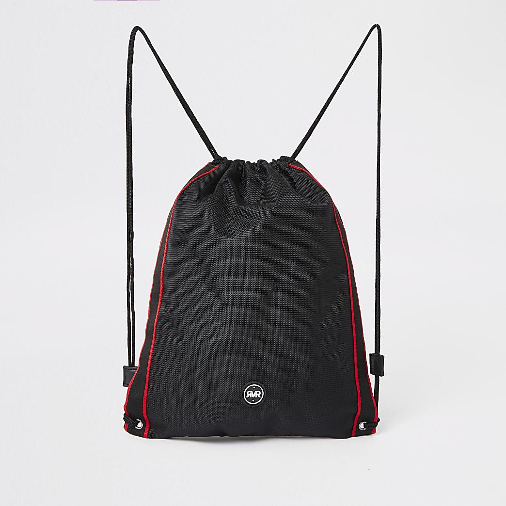 RVR - Zwarte tas met trekkoord voor jongens
