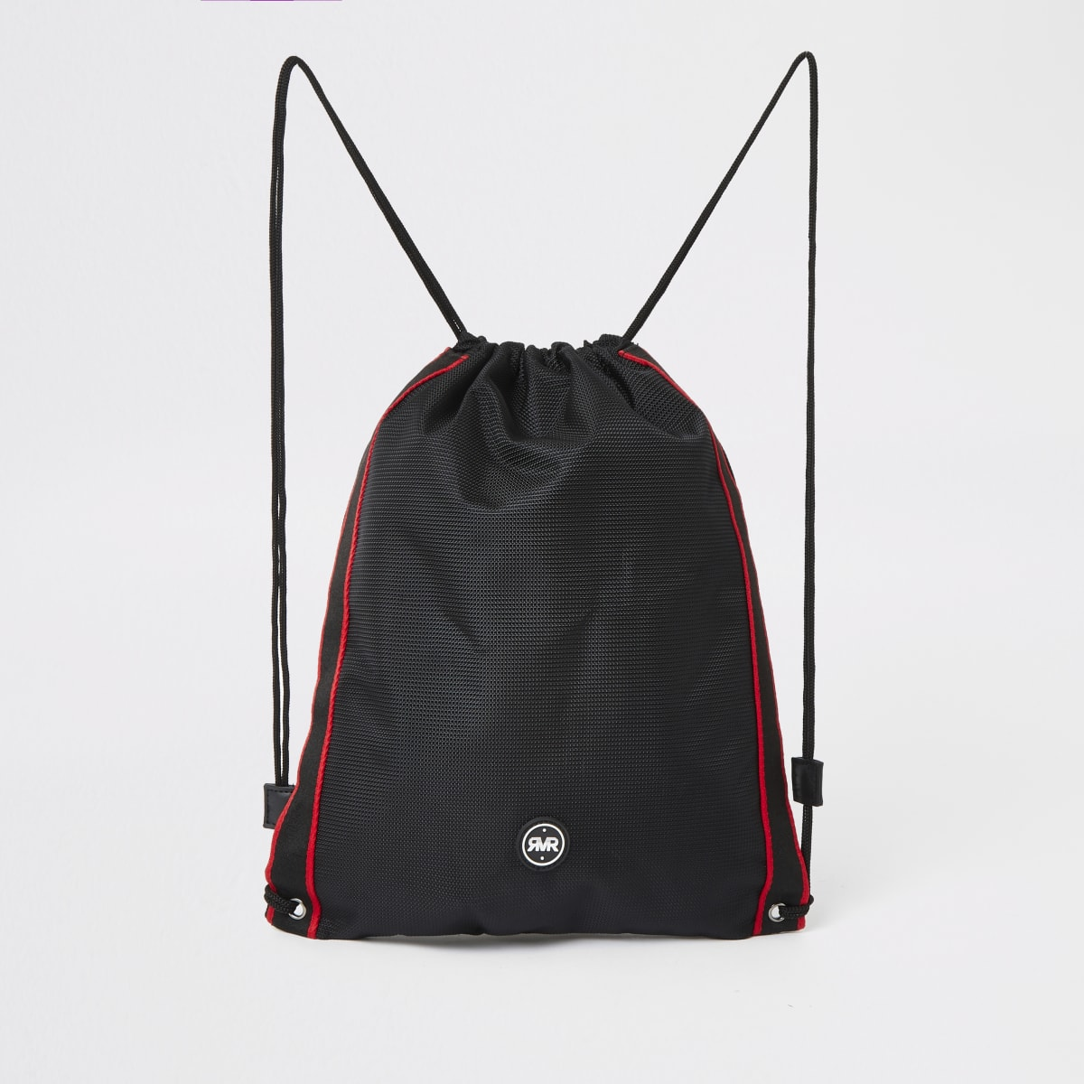 Boys black RVR drawstring bag