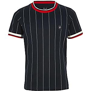 Jack & Jones – Marineblaues T-Shirt mit Streifen