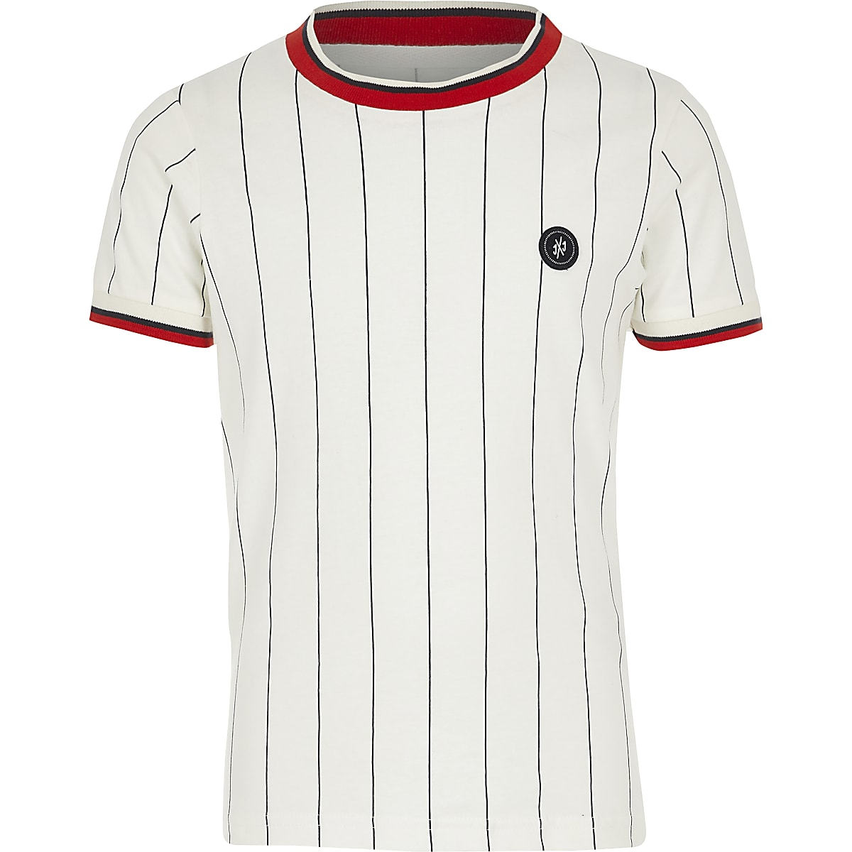 Boys white Jack and Jones stripe T-shirt