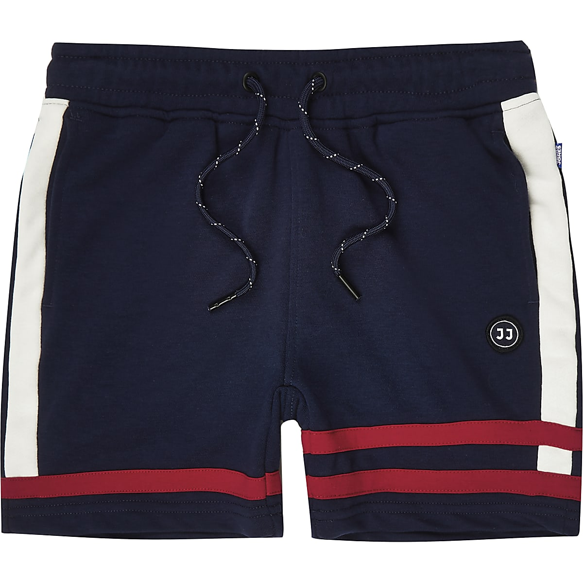 Boys Jack and Jones blue jersey shorts
