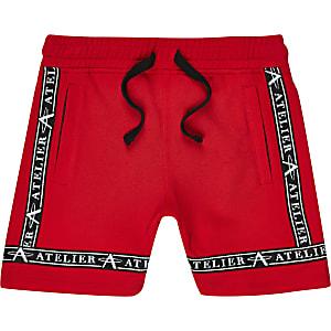 Rode piqué short voor jongens