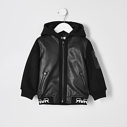 Mini boys black RI bomber jacket